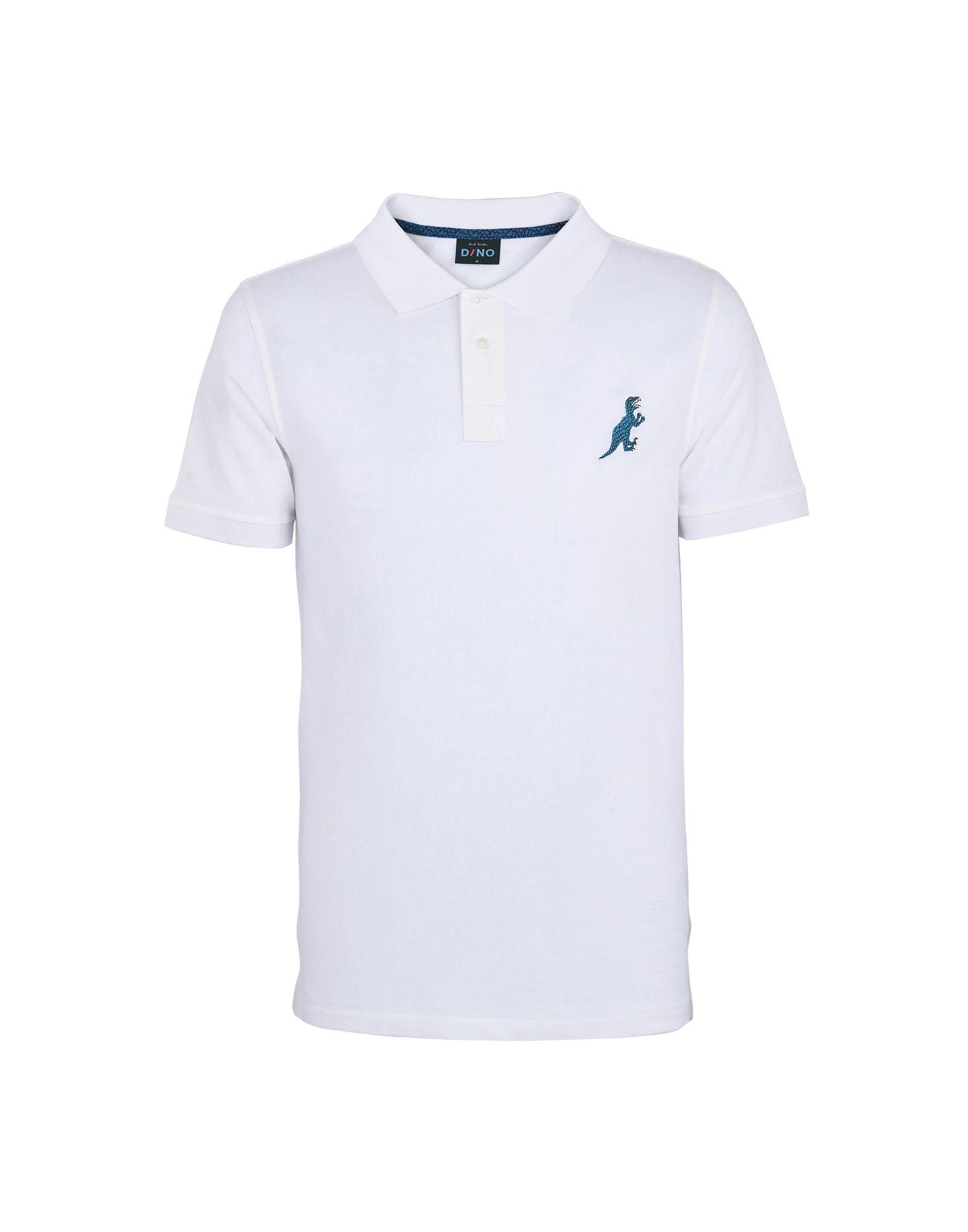 《送料無料》PS PAUL SMITH メンズ ポロシャツ ホワイト XL コットン 100% MENS SS SLIM FIT POLO SHIRT