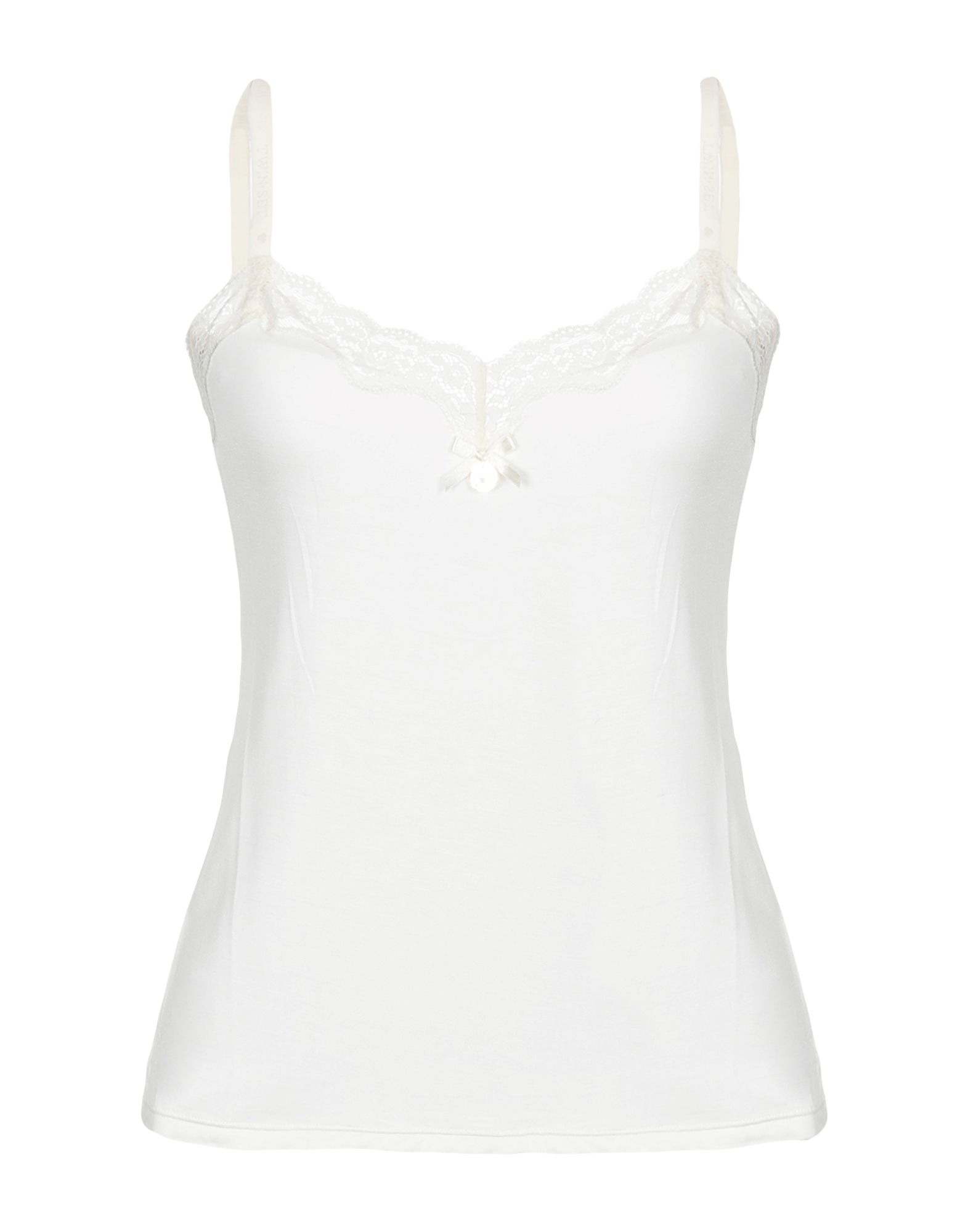 TWIN-SET LINGERIE Бельевая майка black sexy v neck lace up design cut out lingerie set