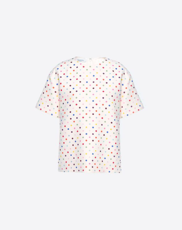 Polka-dot print top