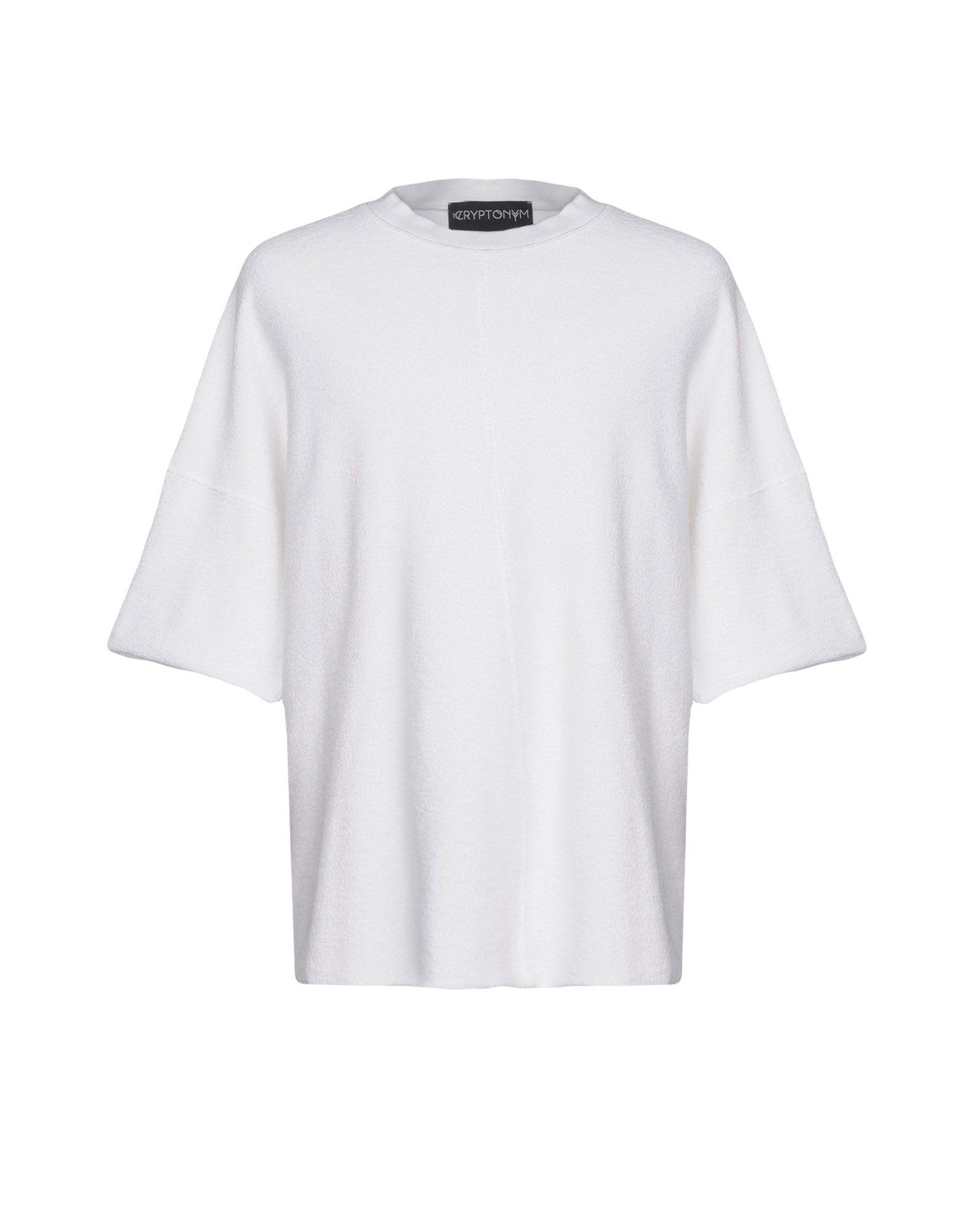 《送料無料》THE CRYPTONYM メンズ スウェットシャツ ホワイト M コットン 100%