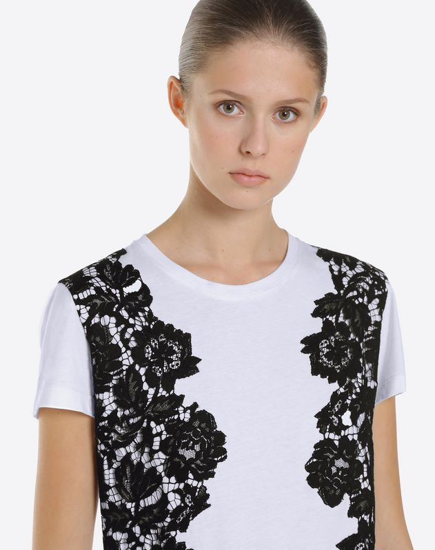 T-shirt con Heavy Lace