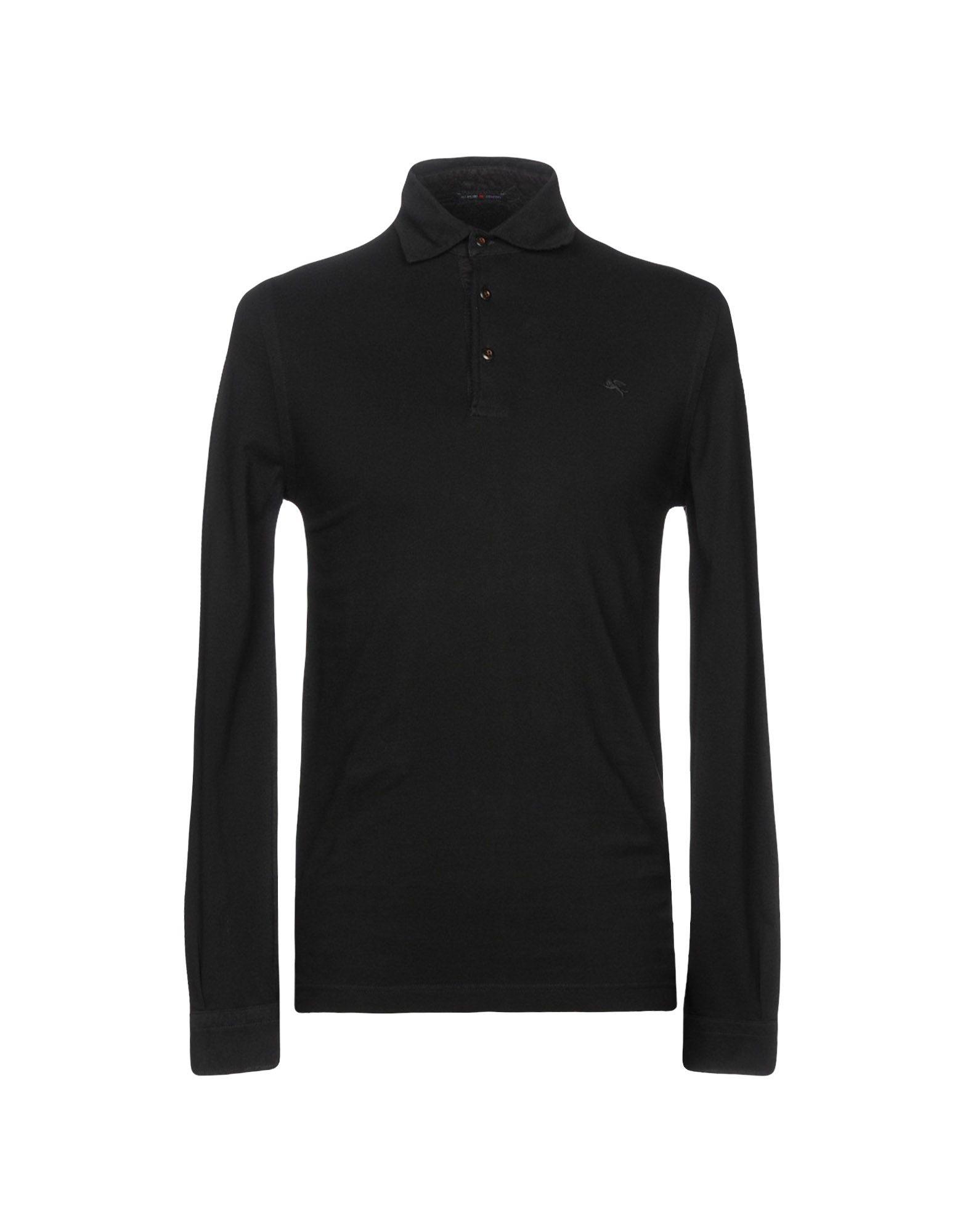 《セール開催中》PAL ZILERI CONCEPT メンズ ポロシャツ ブラック 48 コットン 100%