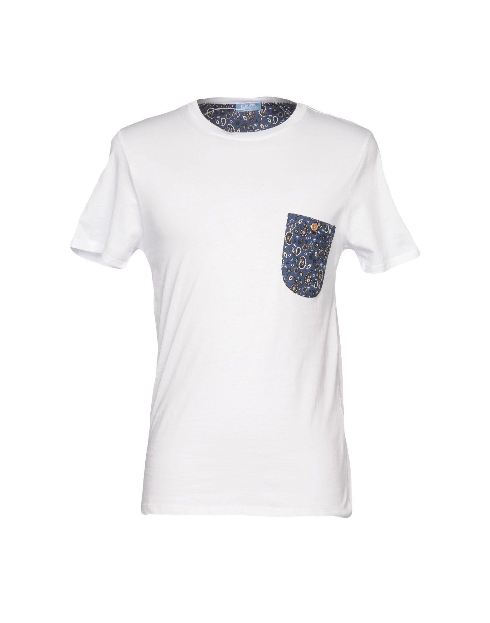 《送料無料》FEF? GLAMOUR POCHETTE メンズ T シャツ ホワイト M コットン 100%