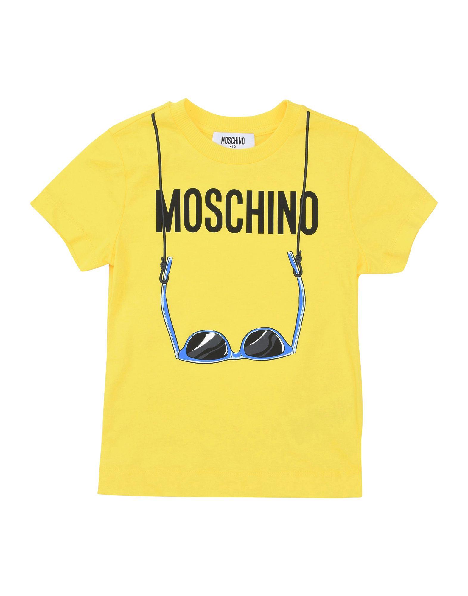 MOSCHINO KID Jungen 3-8 jahre T-shirts Farbe Gelb Größe 6