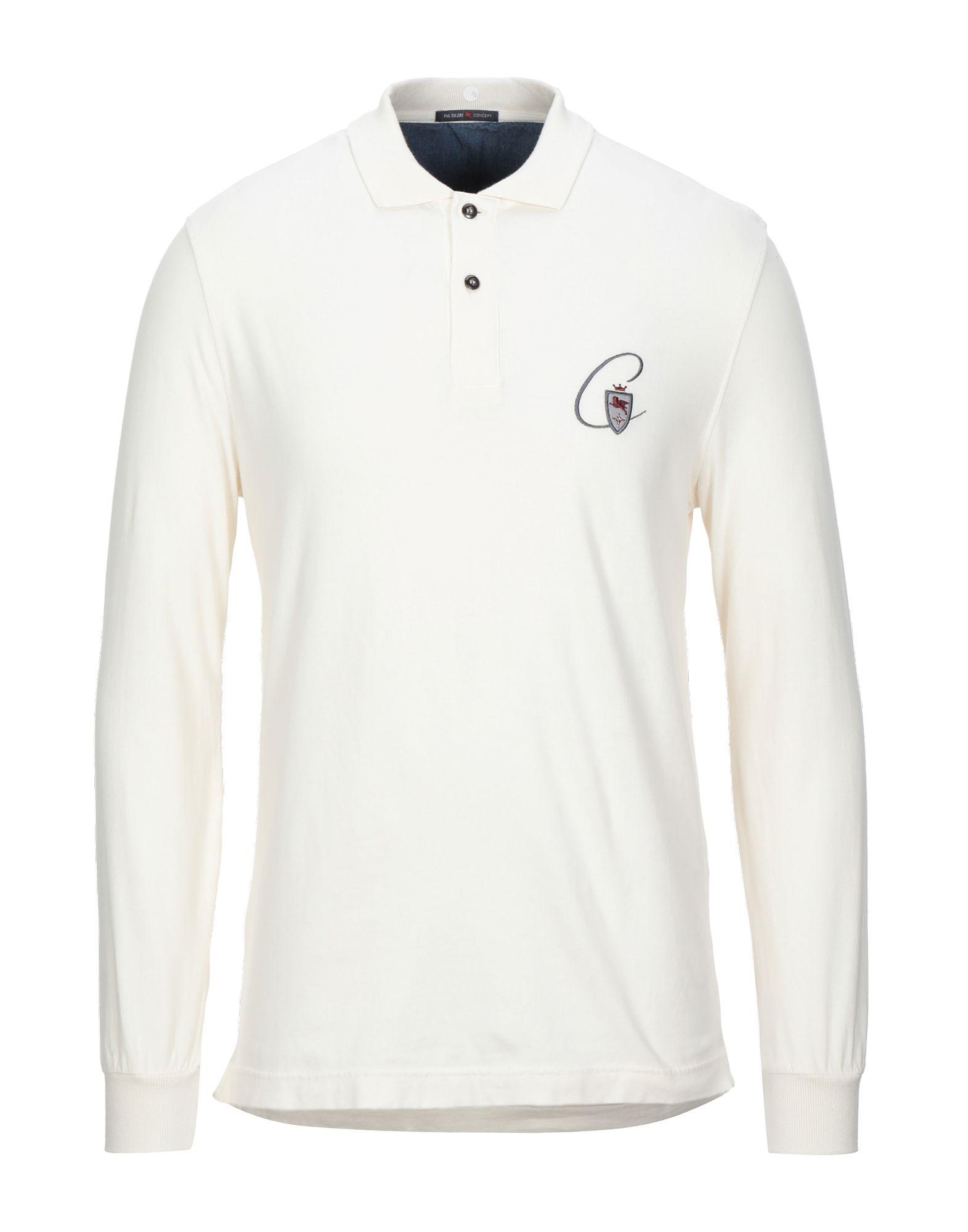 《セール開催中》PAL ZILERI CONCEPT メンズ ポロシャツ アイボリー 48 コットン 100%