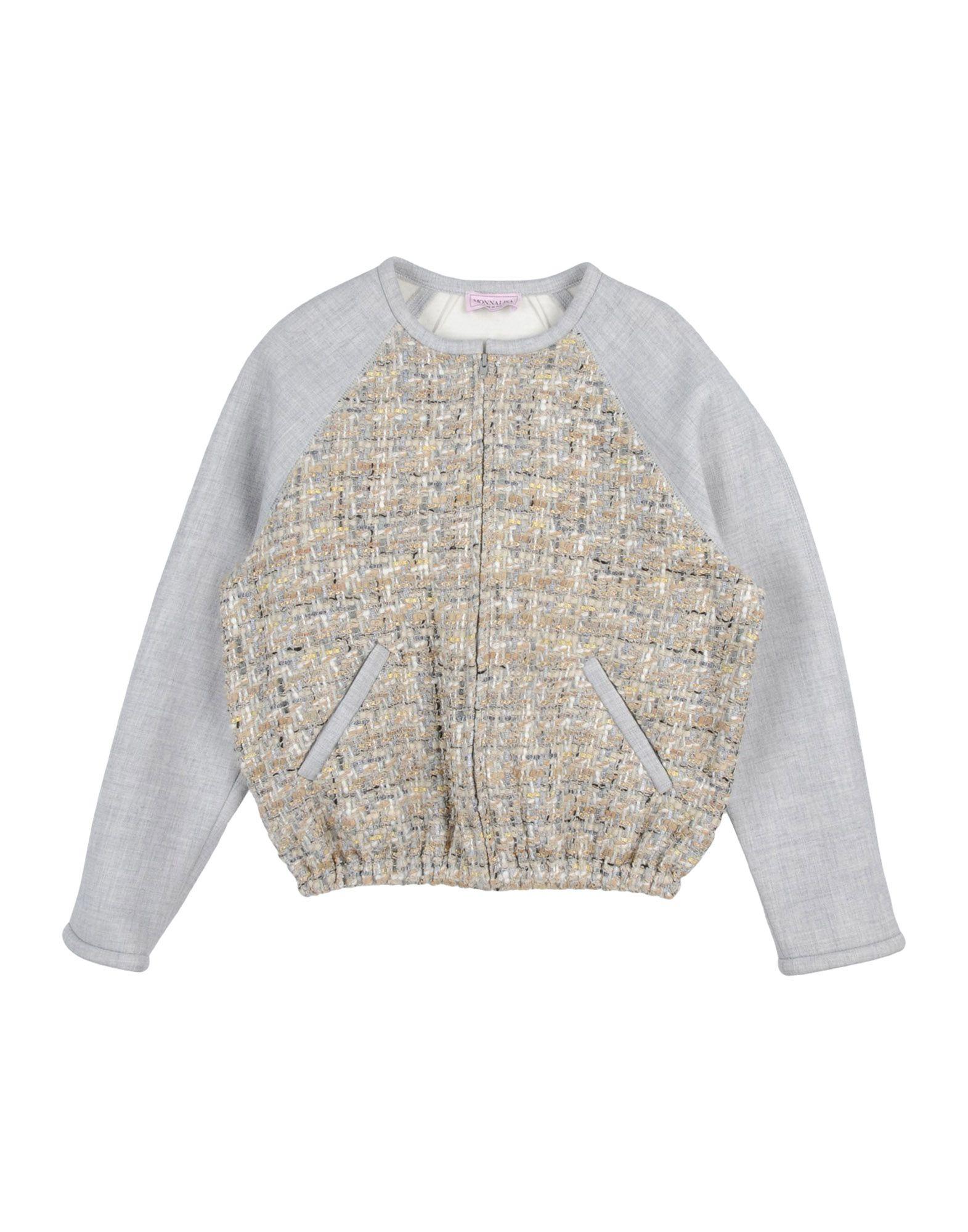 MONNALISA Sweatshirt in Light Grey