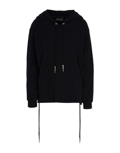 THE KOOPLES SPORT レディース スウェットシャツ ブラック 1 コットン 100% SWEATER WITH LACE DETAILS AT THE BOTTOM BODY