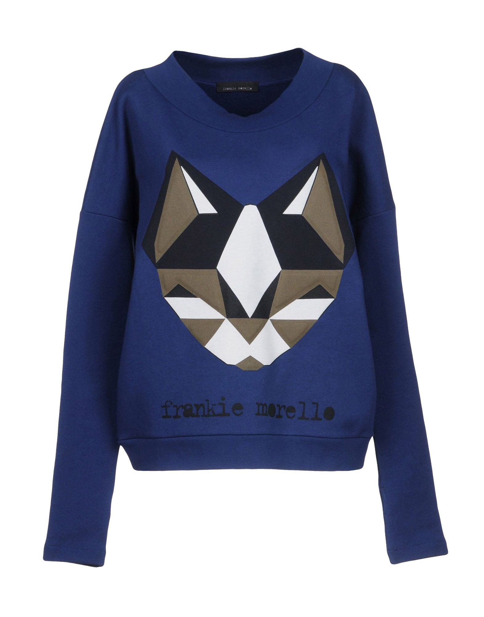 《送料無料》FRANKIE MORELLO レディース スウェットシャツ ブルー S コットン 100%