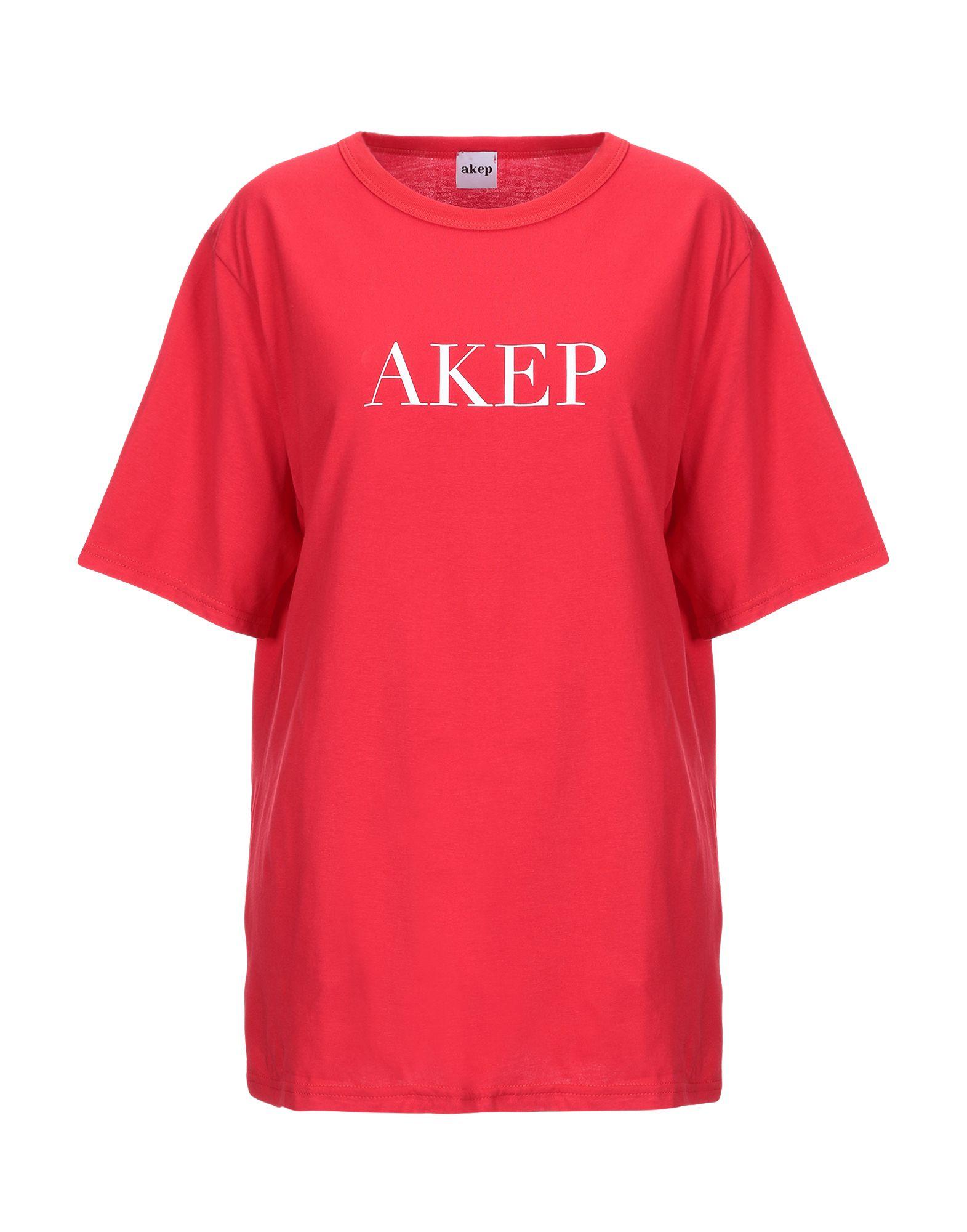 《送料無料》AKEP レディース T シャツ レッド S コットン 100%