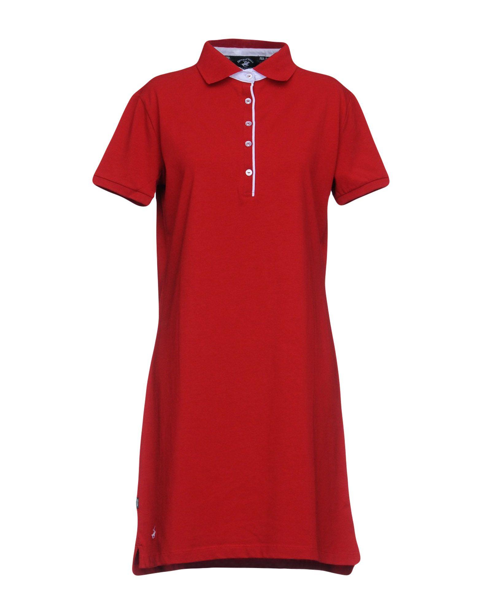 BEVERLY HILLS POLO CLUB Damen Kurzes Kleid Farbe Rot Größe 5