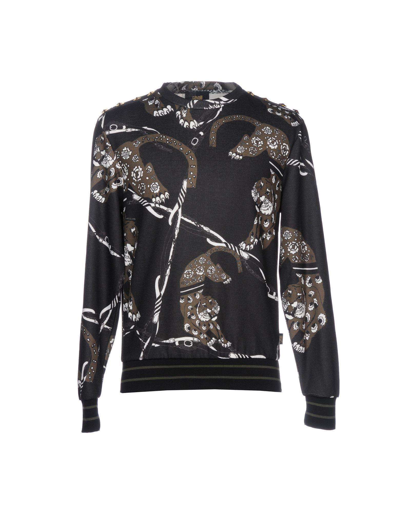 CLASS ROBERTO CAVALLI Sweatshirt in Steel Grey
