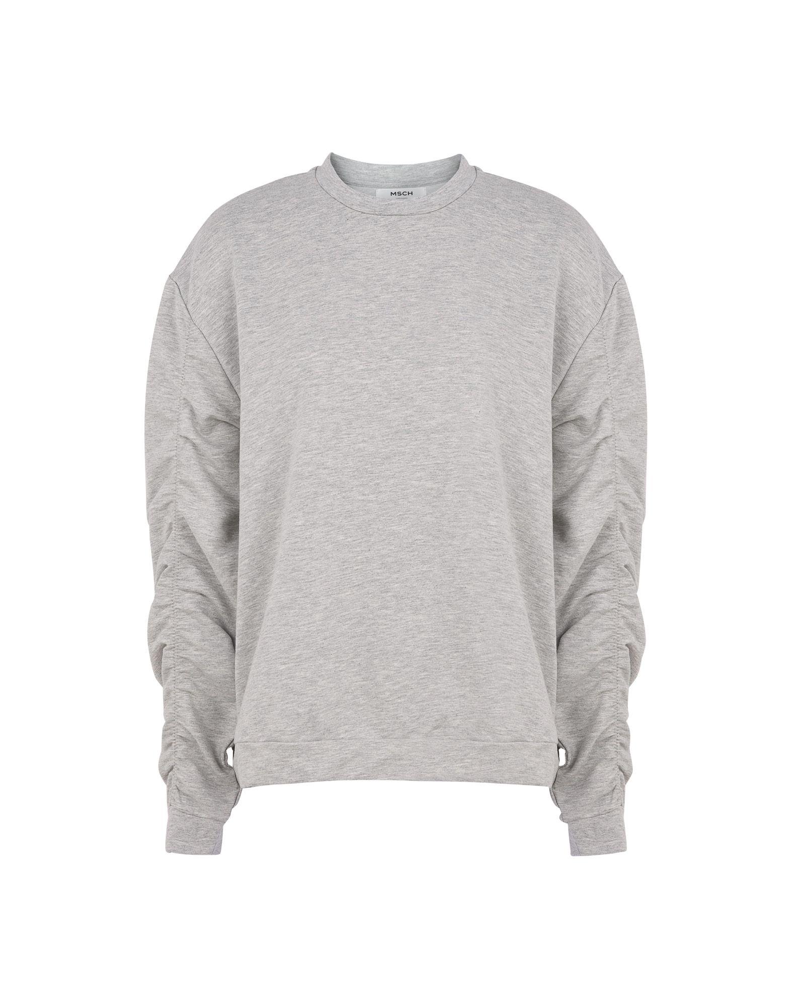 《送料無料》MOSS COPENHAGEN レディース スウェットシャツ ライトグレー M ポリエステル 55% / コットン 40% / ポリウレタン 5% Fifi Tia Sweatshirt