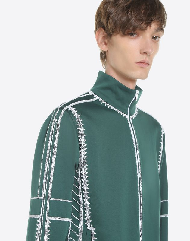 Sweatshirt with geometric embroidery