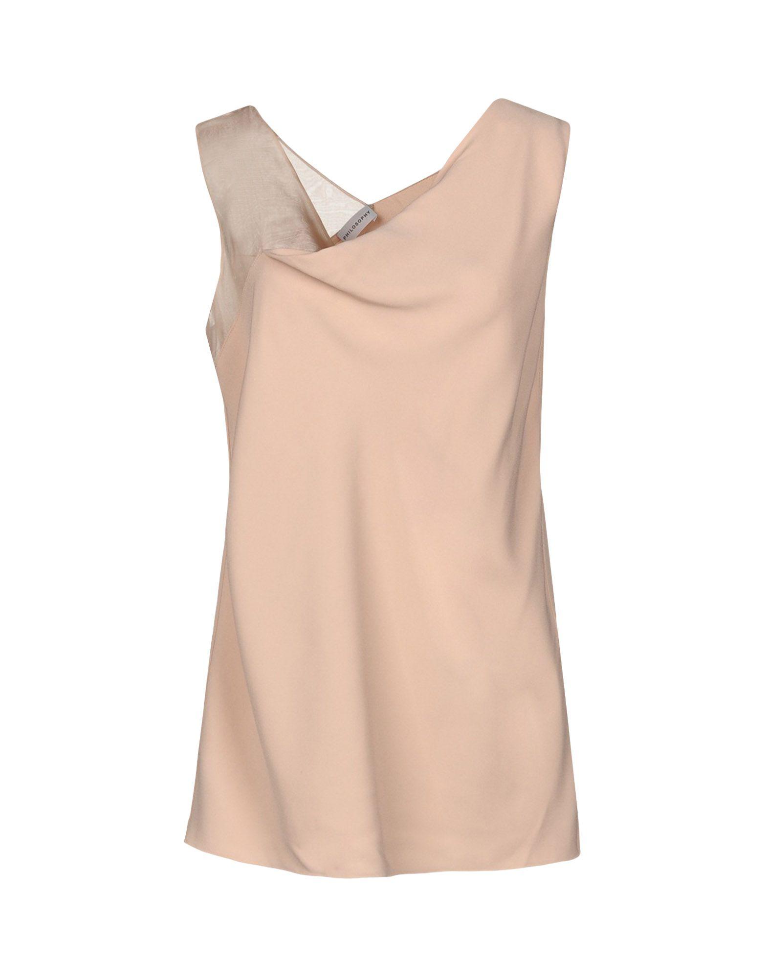 PHILOSOPHY di ALBERTA FERRETTI Топ без рукавов футболка женская nike pro top цвет белый 889540 100 размер s 42 44