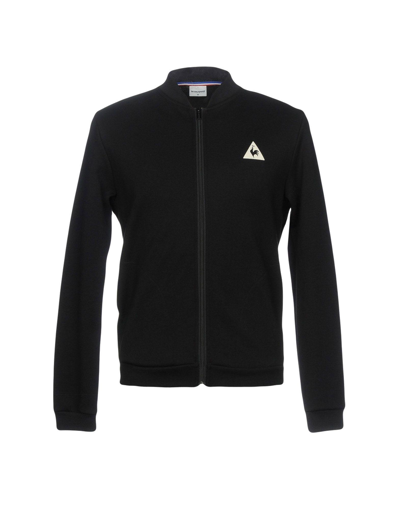 《セール開催中》LE COQ SPORTIF メンズ スウェットシャツ ブラック S コットン 85% / ポリエステル 15%