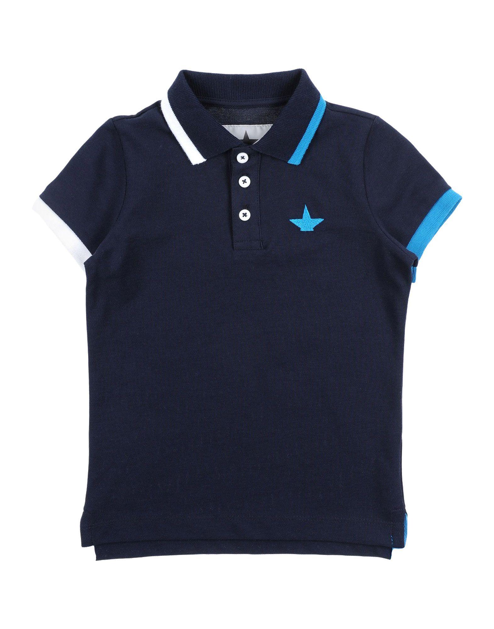 《送料無料》MACCHIA J ボーイズ 0-24 ヶ月 ポロシャツ ダークブルー 24 コットン 100%