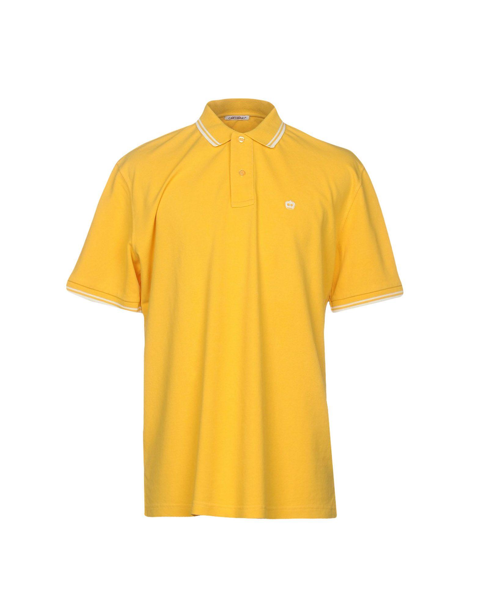 《送料無料》GIOFERRARI メンズ ポロシャツ イエロー 58 コットン 100%