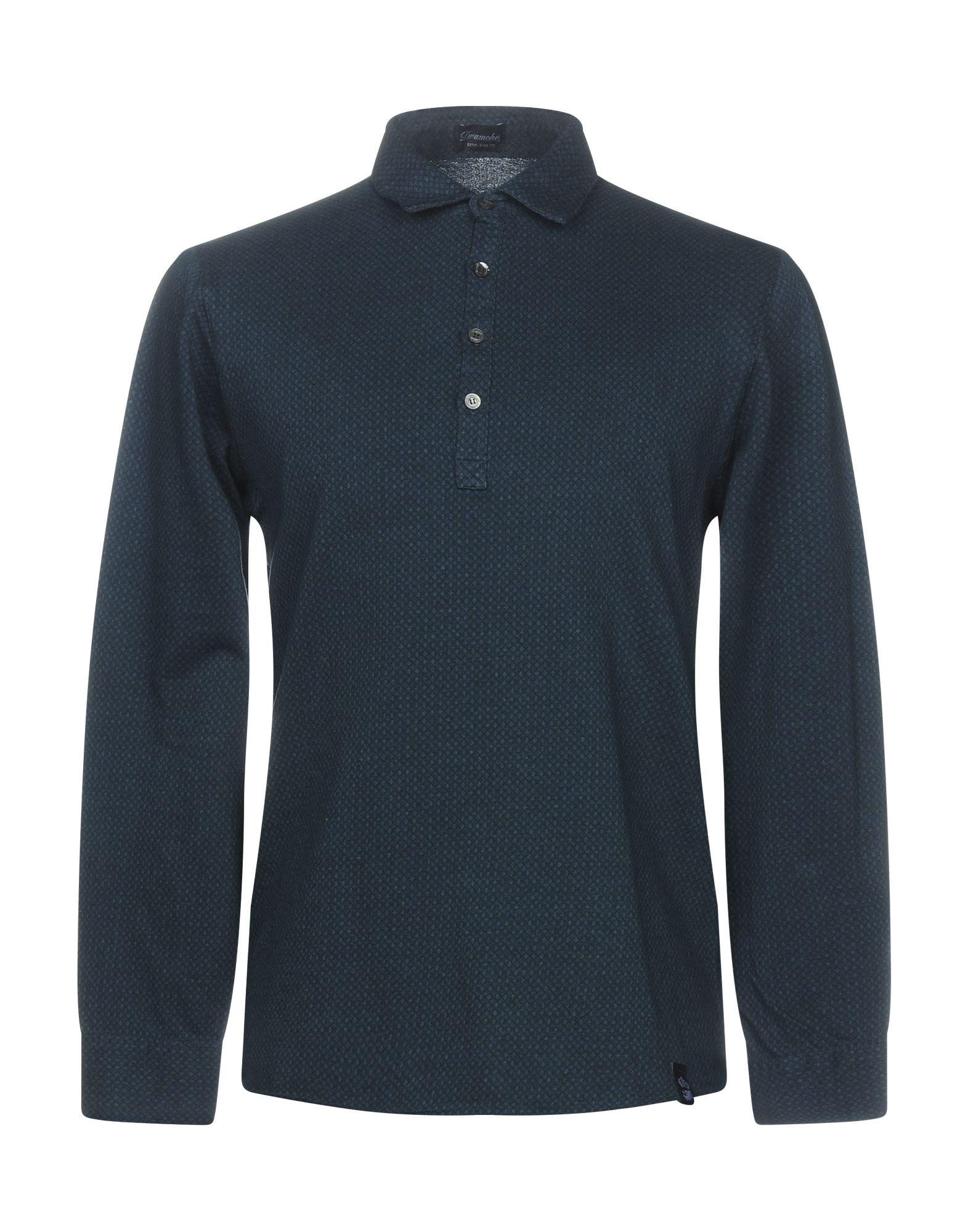 《送料無料》DRUMOHR メンズ ポロシャツ ディープジェード S コットン 100%