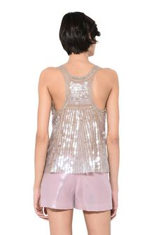 ALBERTA FERRETTI Top in silk tulle with sequins TOPWEAR Woman d