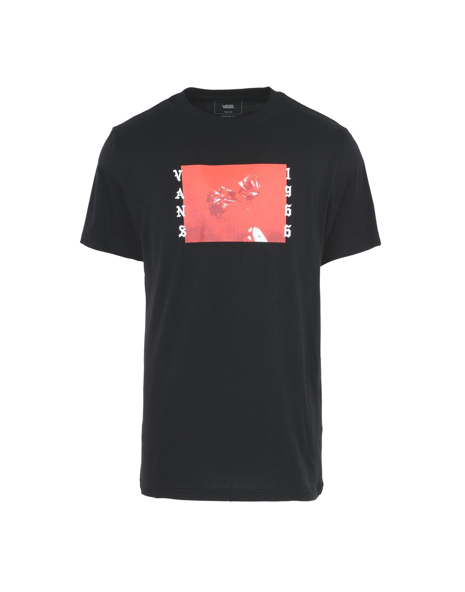 《送料無料》VANS メンズ T シャツ ブラック L コットン 100% BAD VALENTINE