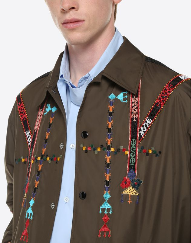 Coach Jacket with geometric embroidery