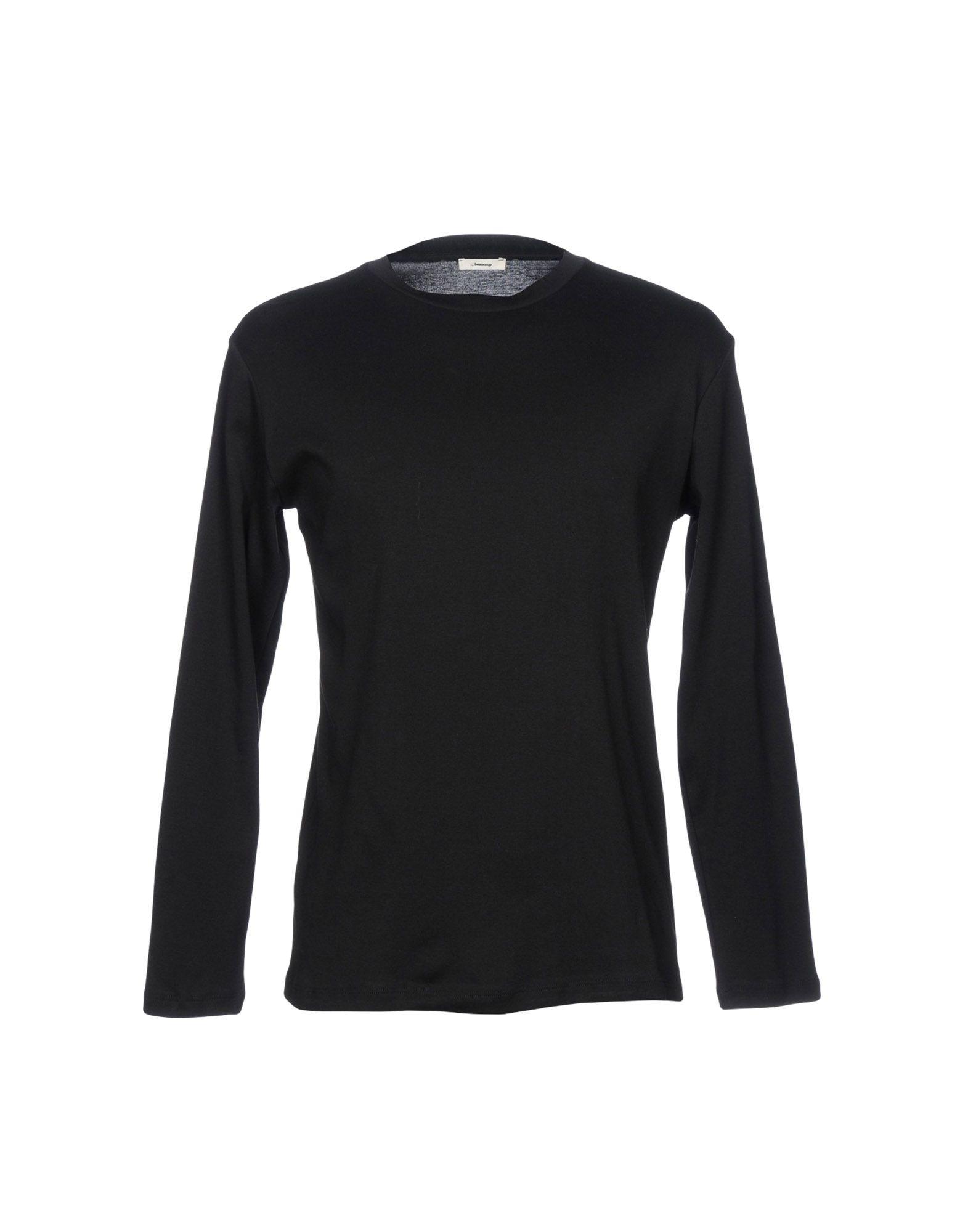 《送料無料》,BEAUCOUP メンズ T シャツ ブラック M コットン 100%