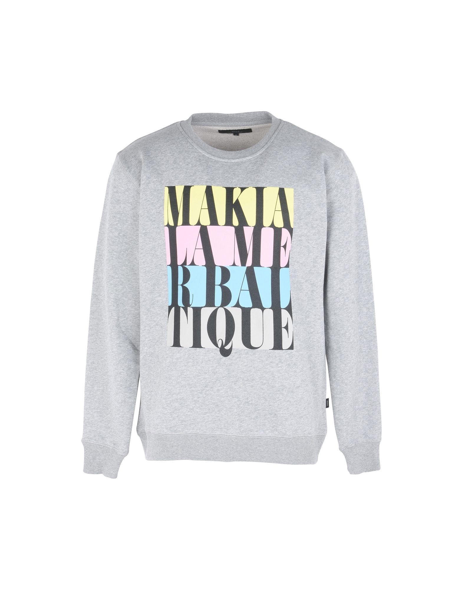 《送料無料》MAKIA メンズ スウェットシャツ グレー M コットン 100% DO OR DIE SWEATSHIRT