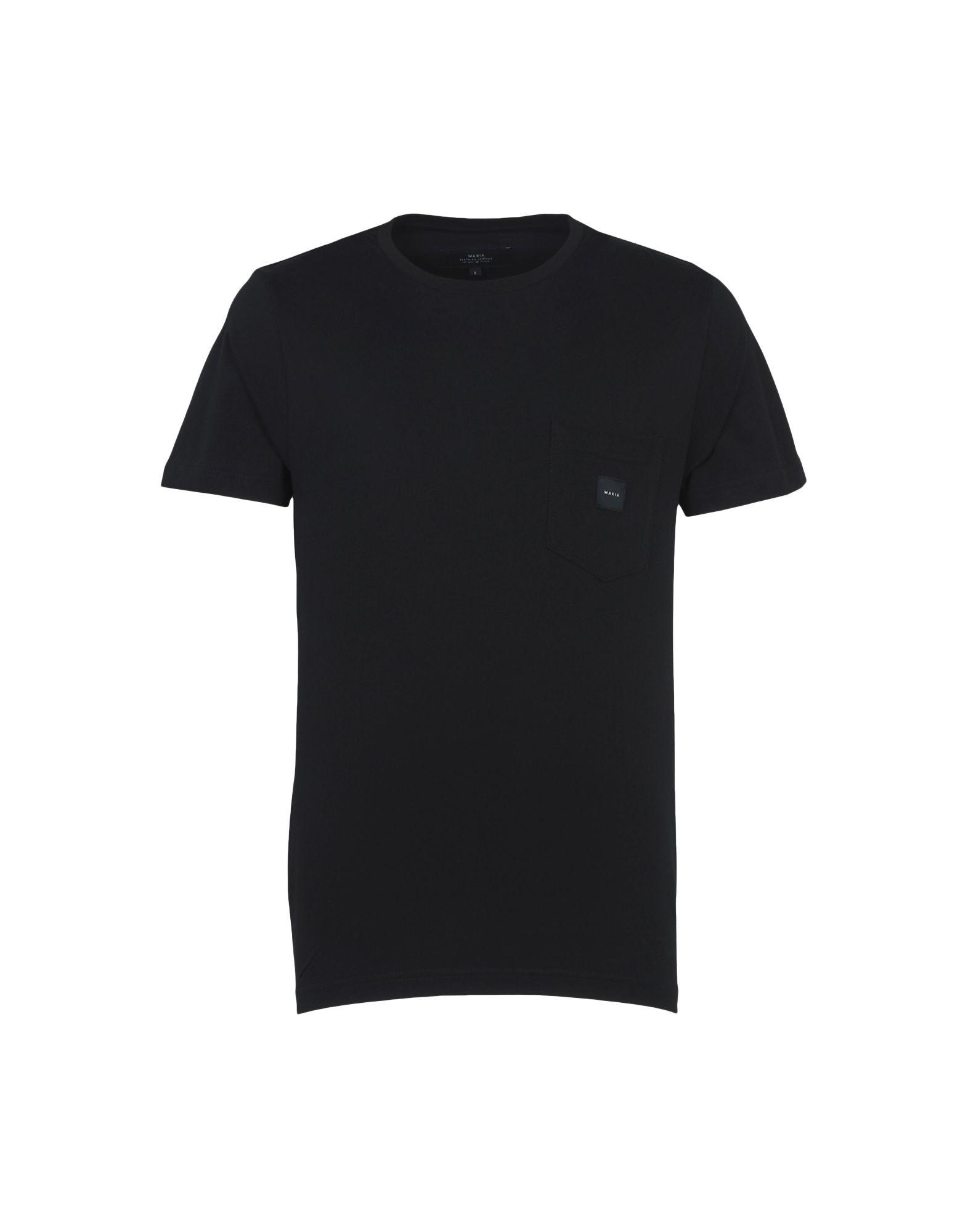《期間限定セール開催中!》MAKIA メンズ T シャツ ブラック S コットン 100% SQUARE POCKET T-SHIRT