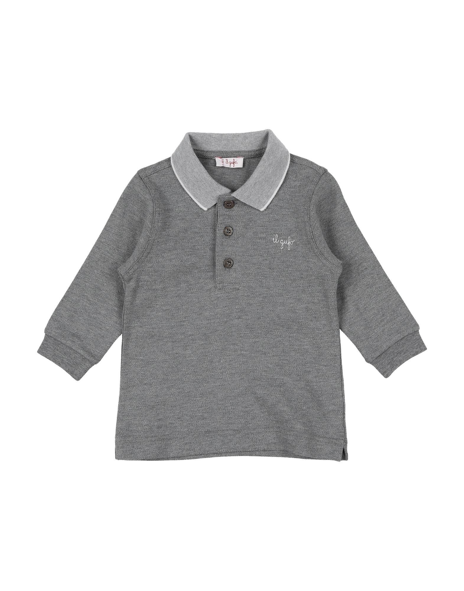 《期間限定 セール開催中》IL GUFO ボーイズ 0-24 ヶ月 ポロシャツ グレー 6 コットン 95% / ポリウレタン 5%