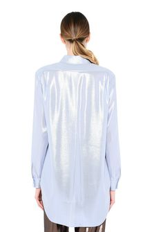 ALBERTA FERRETTI Light blue lamé shirt SHIRT Woman d