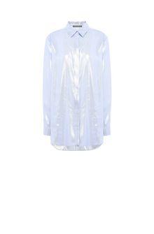 ALBERTA FERRETTI Light blue lamé shirt SHIRT Woman e