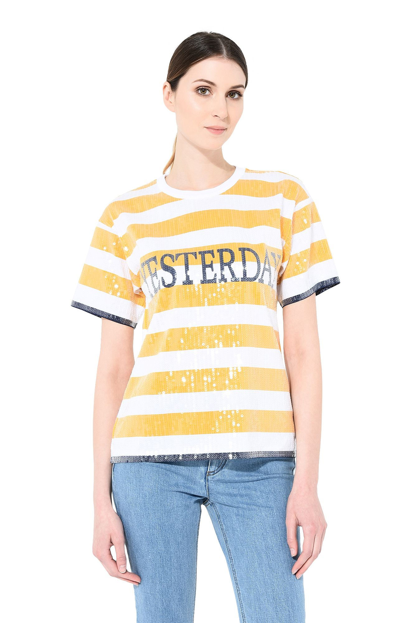 ALBERTA FERRETTI T-shirt Woman Yesterday sequin T-shirt r