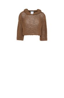 ALBERTA FERRETTI Hooded top in cordonette Sweater Woman e
