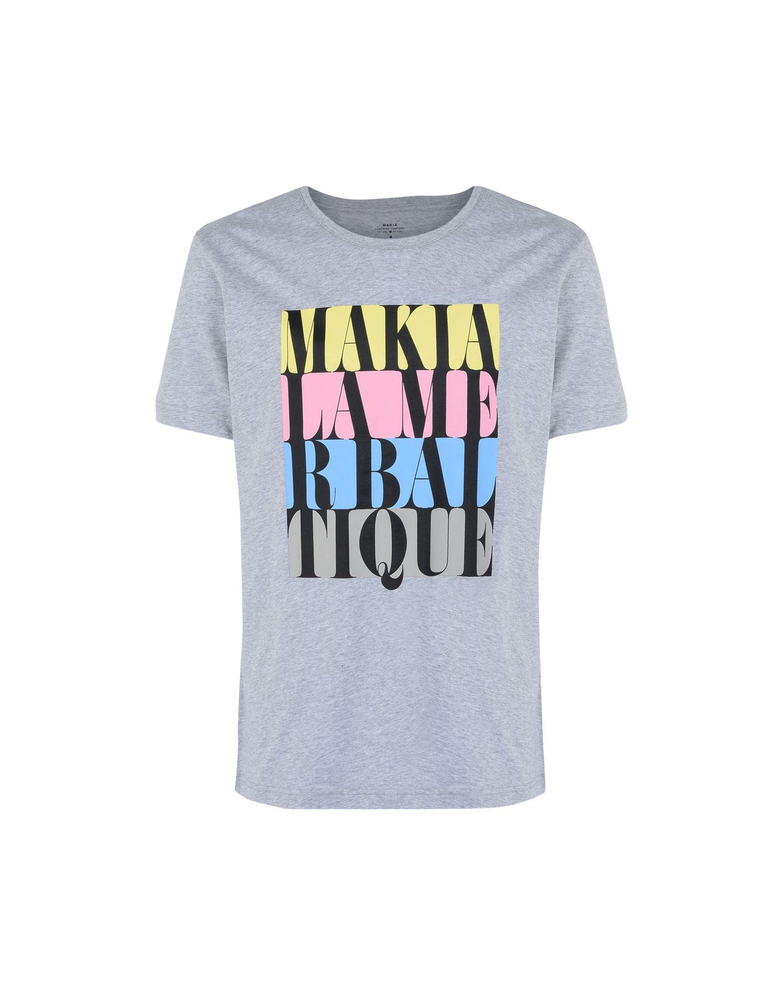 《送料無料》MAKIA メンズ T シャツ ライトグレー S コットン 100% DO OR DIE T-SHIRT