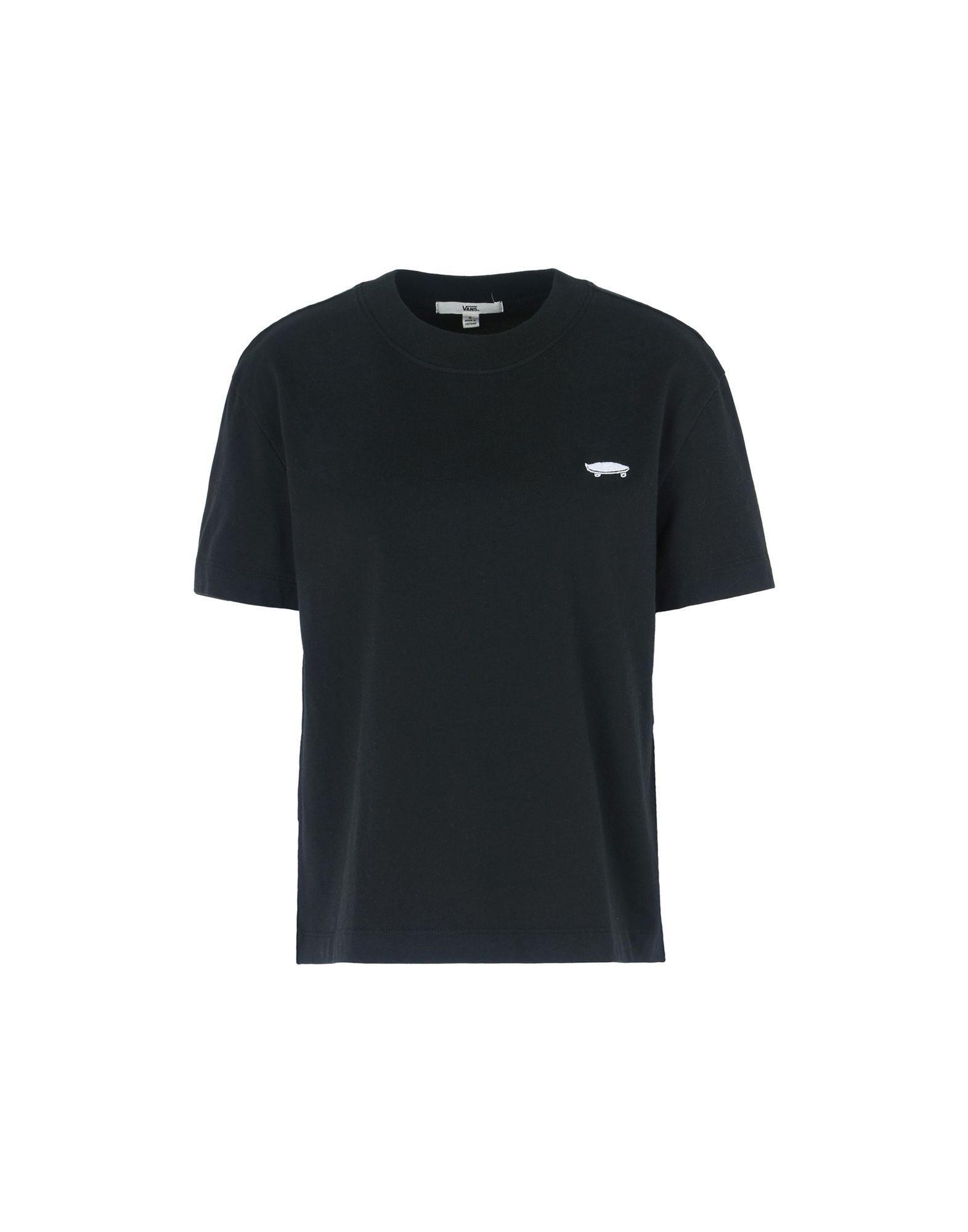 《送料無料》VANS レディース T シャツ ブラック XS コットン 100% BOULDER TOP