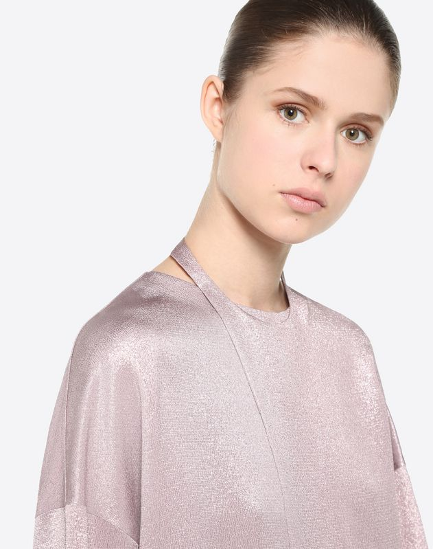 Hammered lamé top