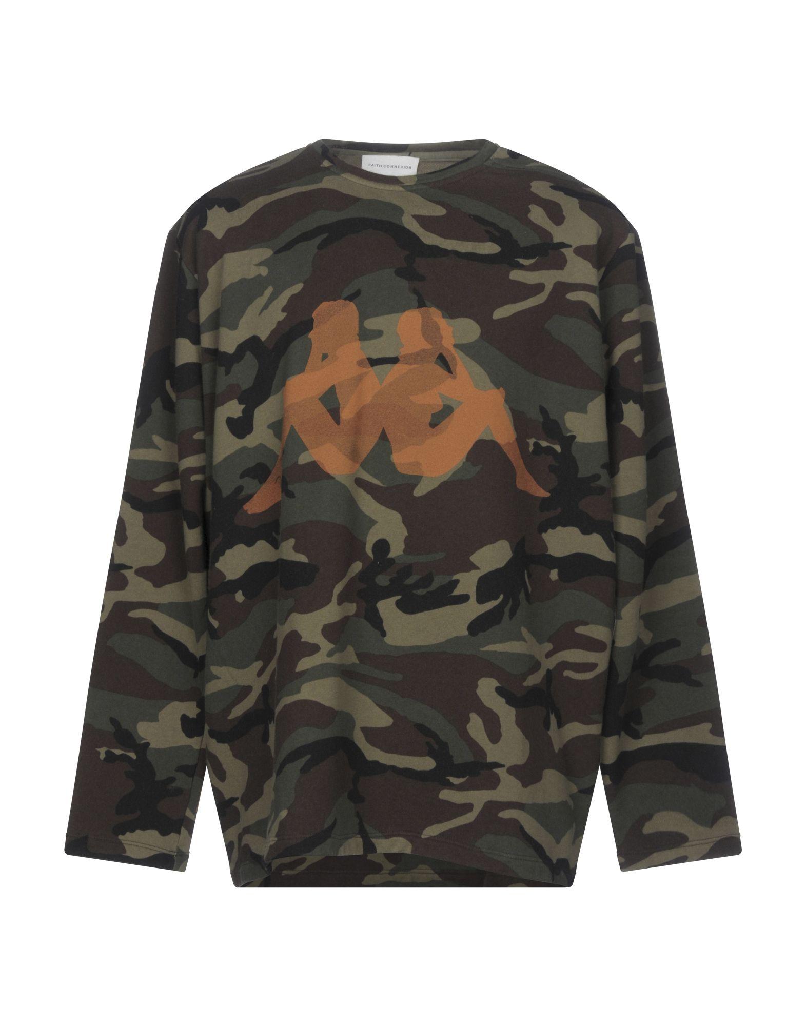 《送料無料》KAPPA x FAITH CONNEXION メンズ スウェットシャツ ミリタリーグリーン XXS コットン 100%