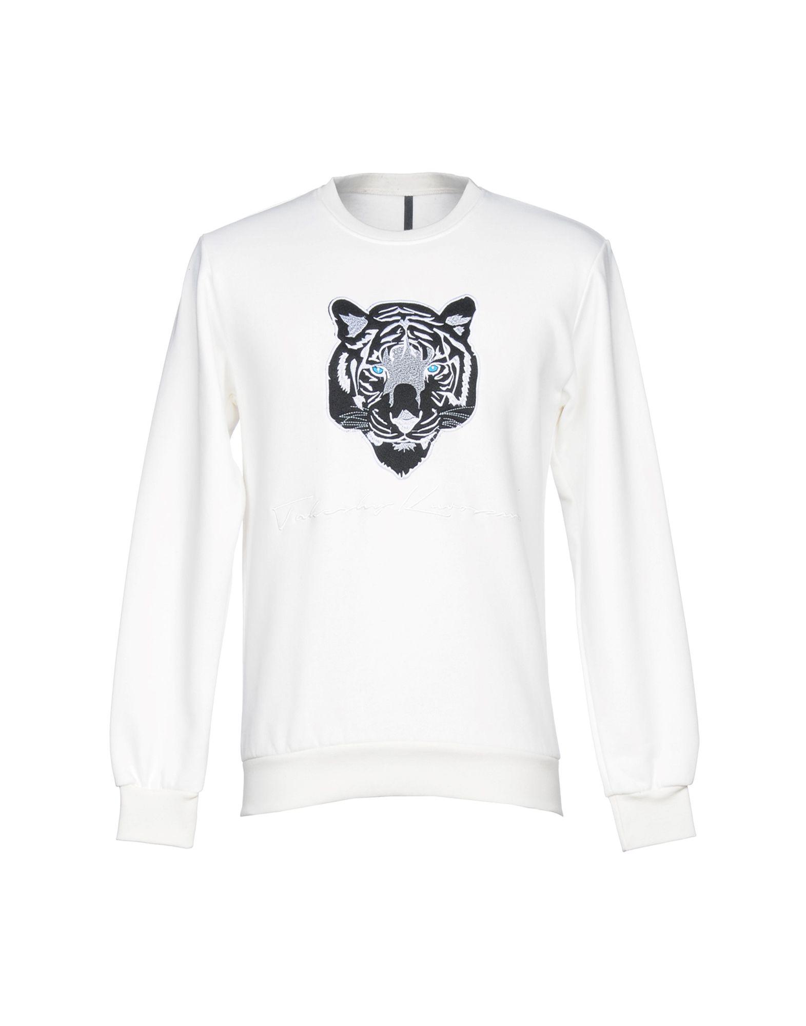 《送料無料》TAKESHY KUROSAWA メンズ スウェットシャツ ホワイト M コットン 100%