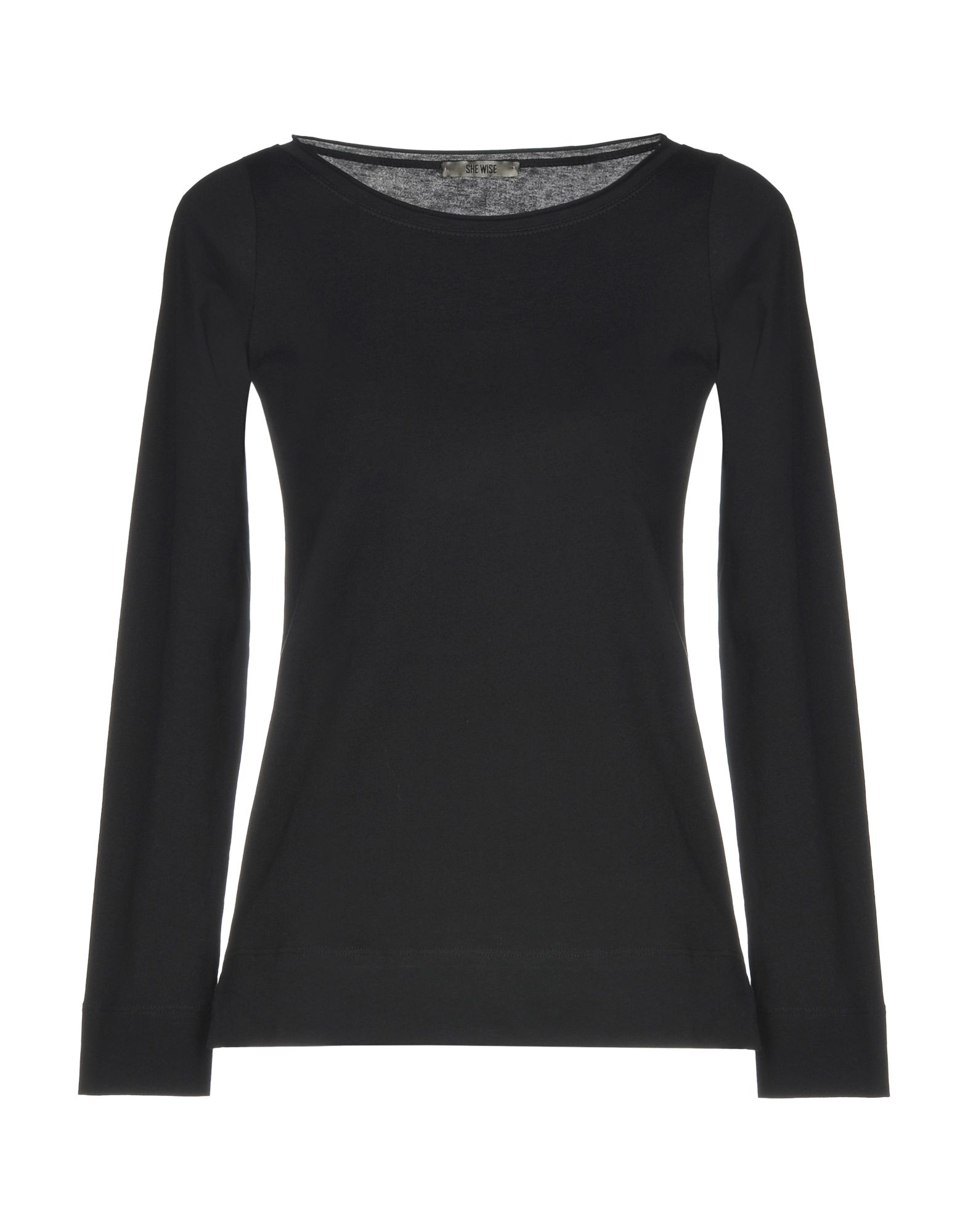 《送料無料》SHE WISE レディース T シャツ ブラック 42 コットン 100%