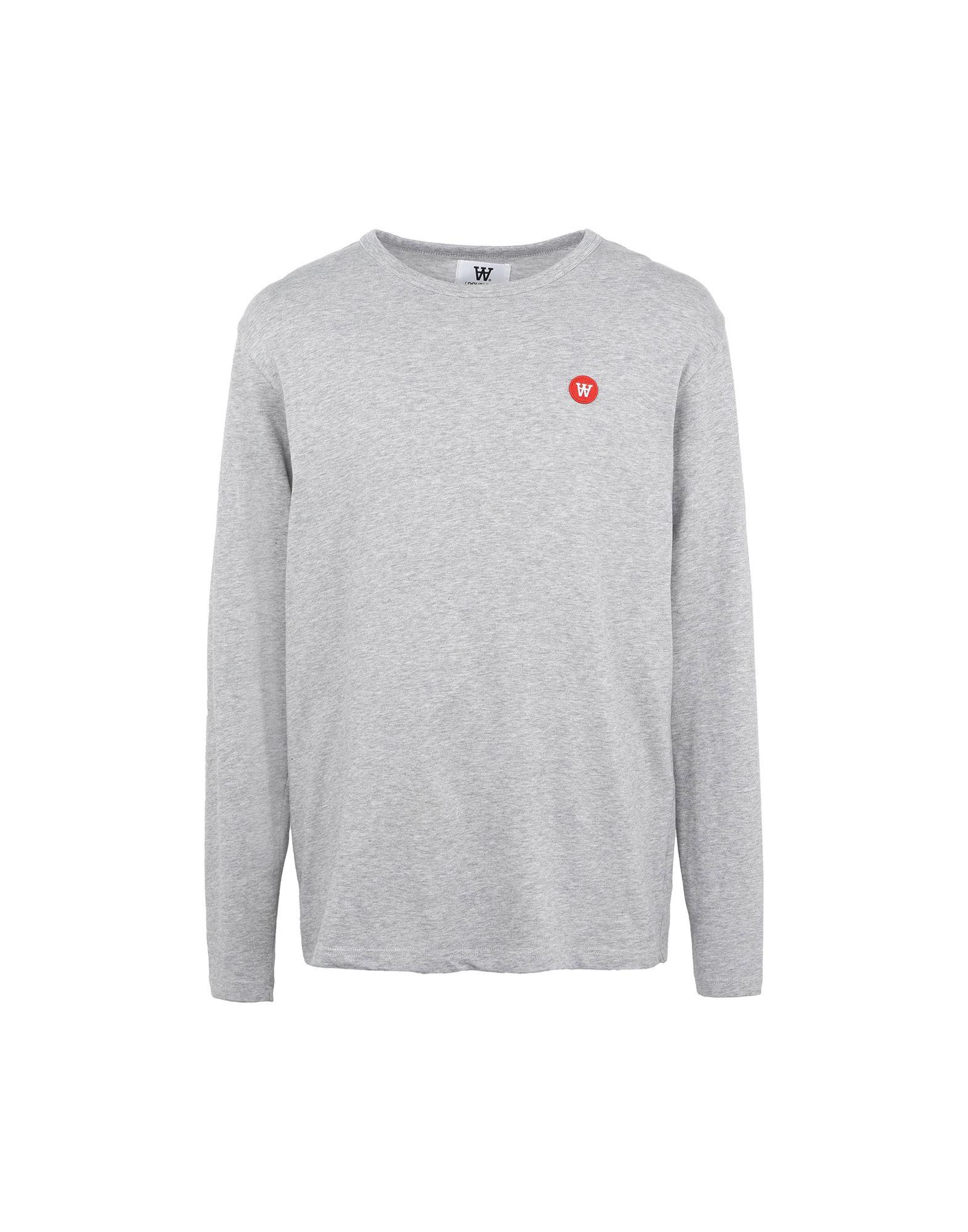 《セール開催中》WOOD WOOD メンズ T シャツ ライトグレー S コットン 100% Mel long sleeve Mens jersey long sleeve