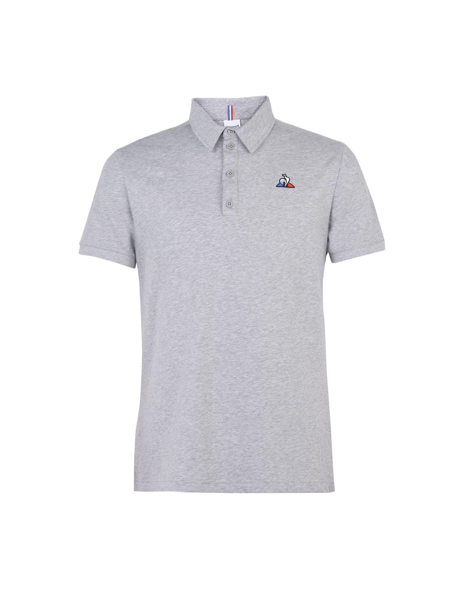 《セール開催中》LE COQ SPORTIF メンズ ポロシャツ グレー S コットン 100% ESS Polo SS N°2 M