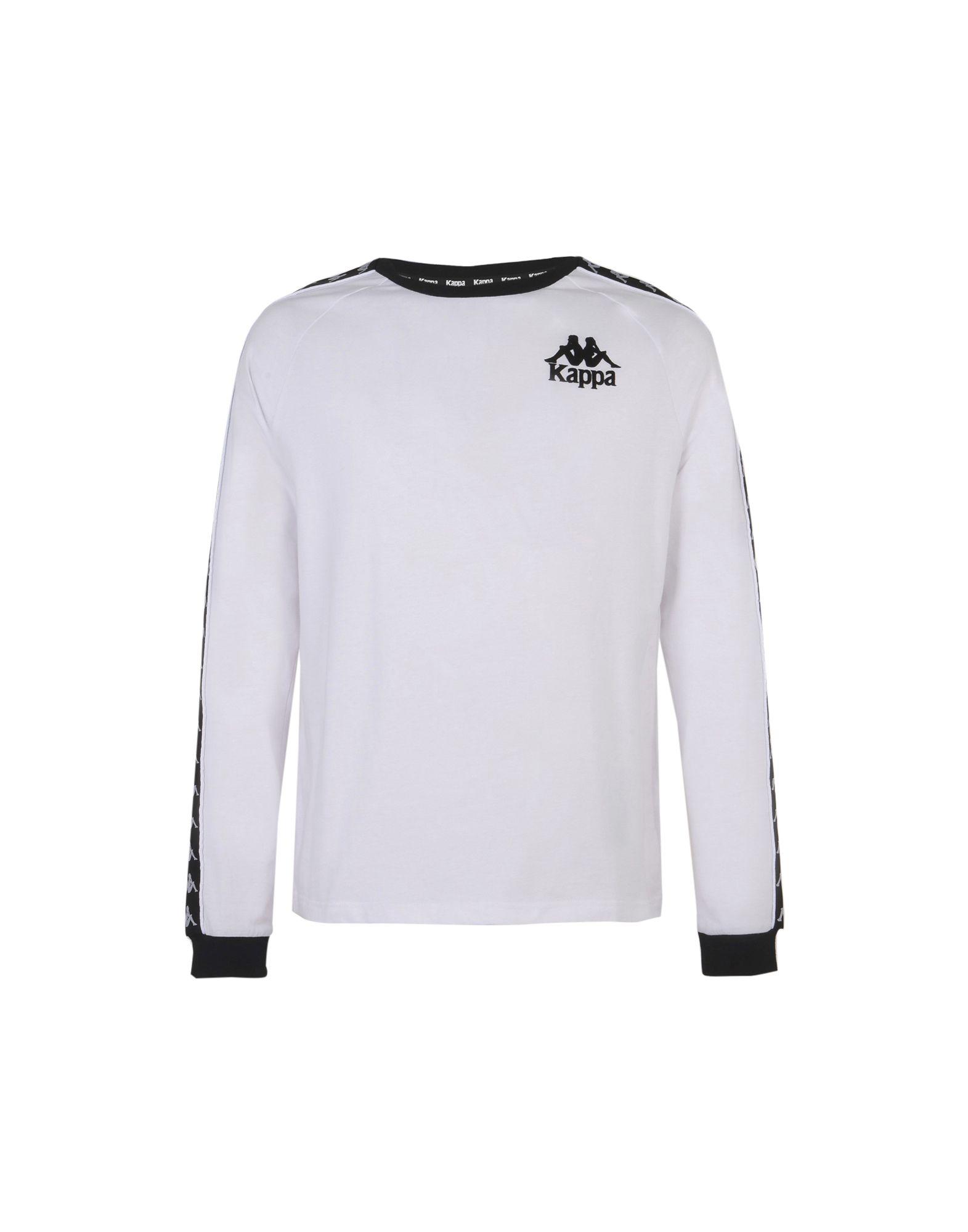 《送料無料》KAPPA メンズ T シャツ ホワイト M コットン 100% DIXON LONG SLEEVE