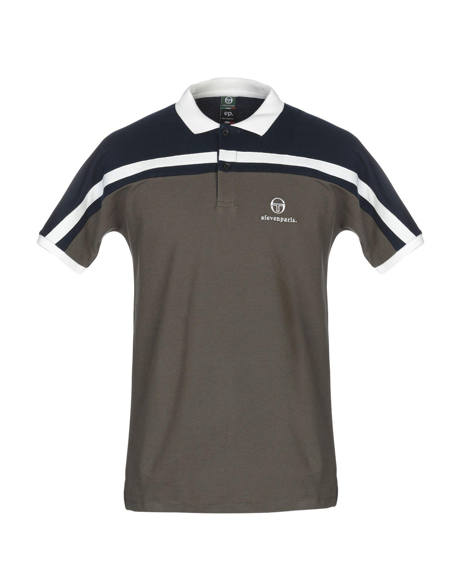 《送料無料》SERGIO TACCHINI x ELEVEN PARIS メンズ ポロシャツ ミリタリーグリーン S コットン 100% THOMAS M