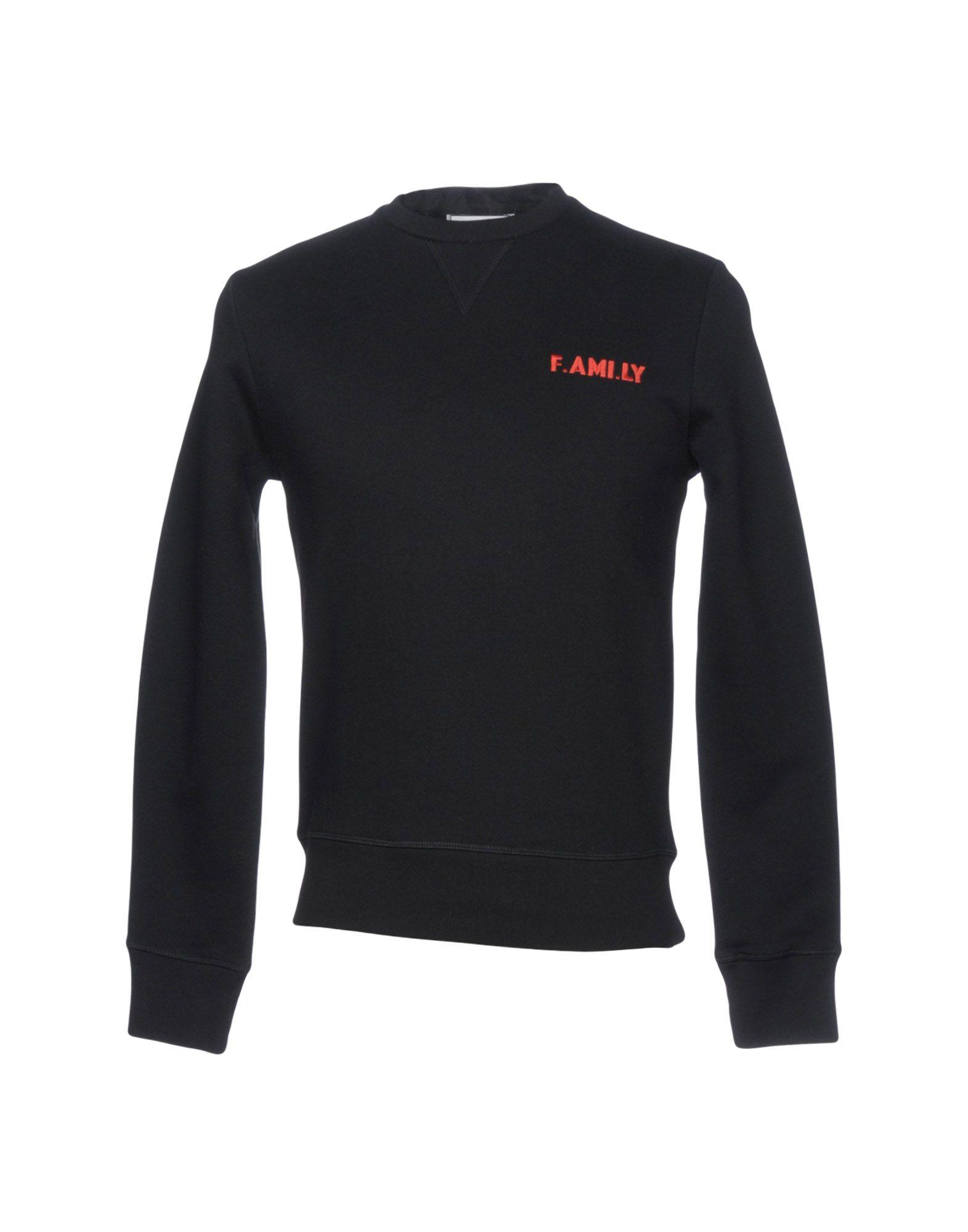 《期間限定セール開催中!》AMI ALEXANDRE MATTIUSSI メンズ スウェットシャツ ブラック XS コットン 100%