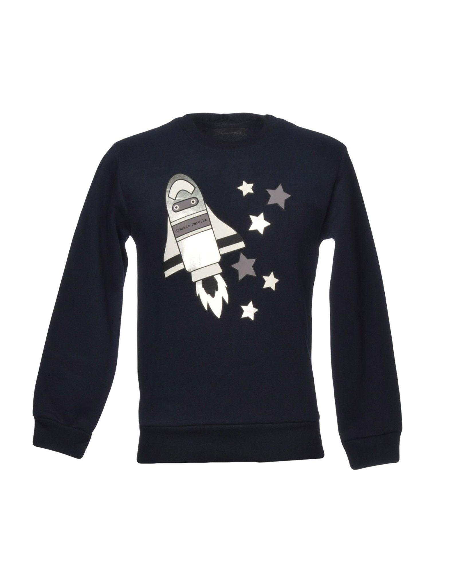 《送料無料》FRANKIE MORELLO メンズ スウェットシャツ ダークブルー XXS コットン 100%