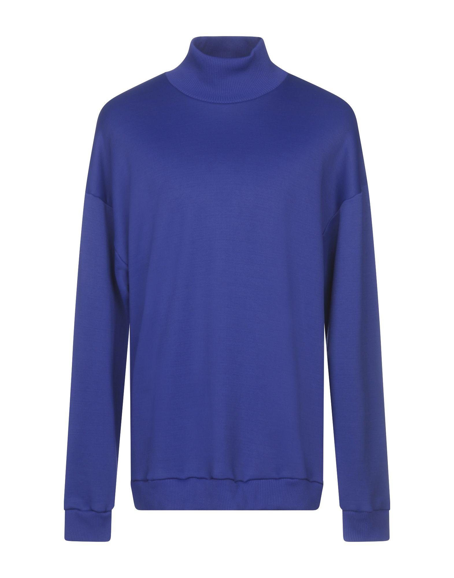 《セール開催中》MARQUES' ALMEIDA メンズ スウェットシャツ ブルー M コットン 55% / ナイロン 45%