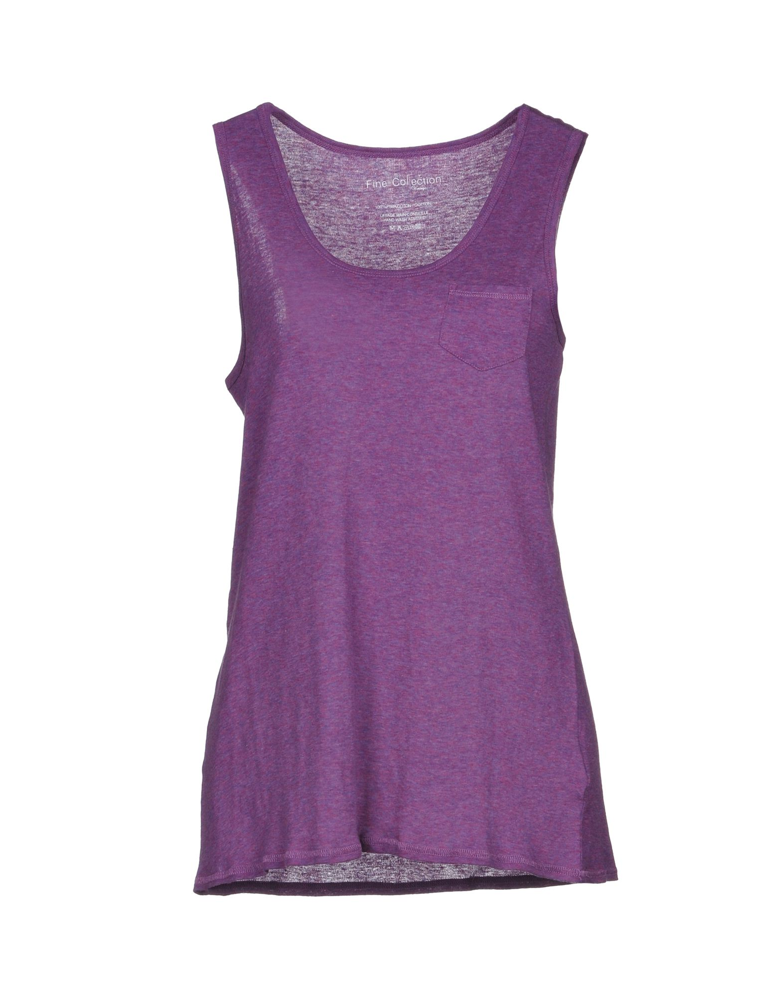 FINE COLLECTION Tank Top in Purple