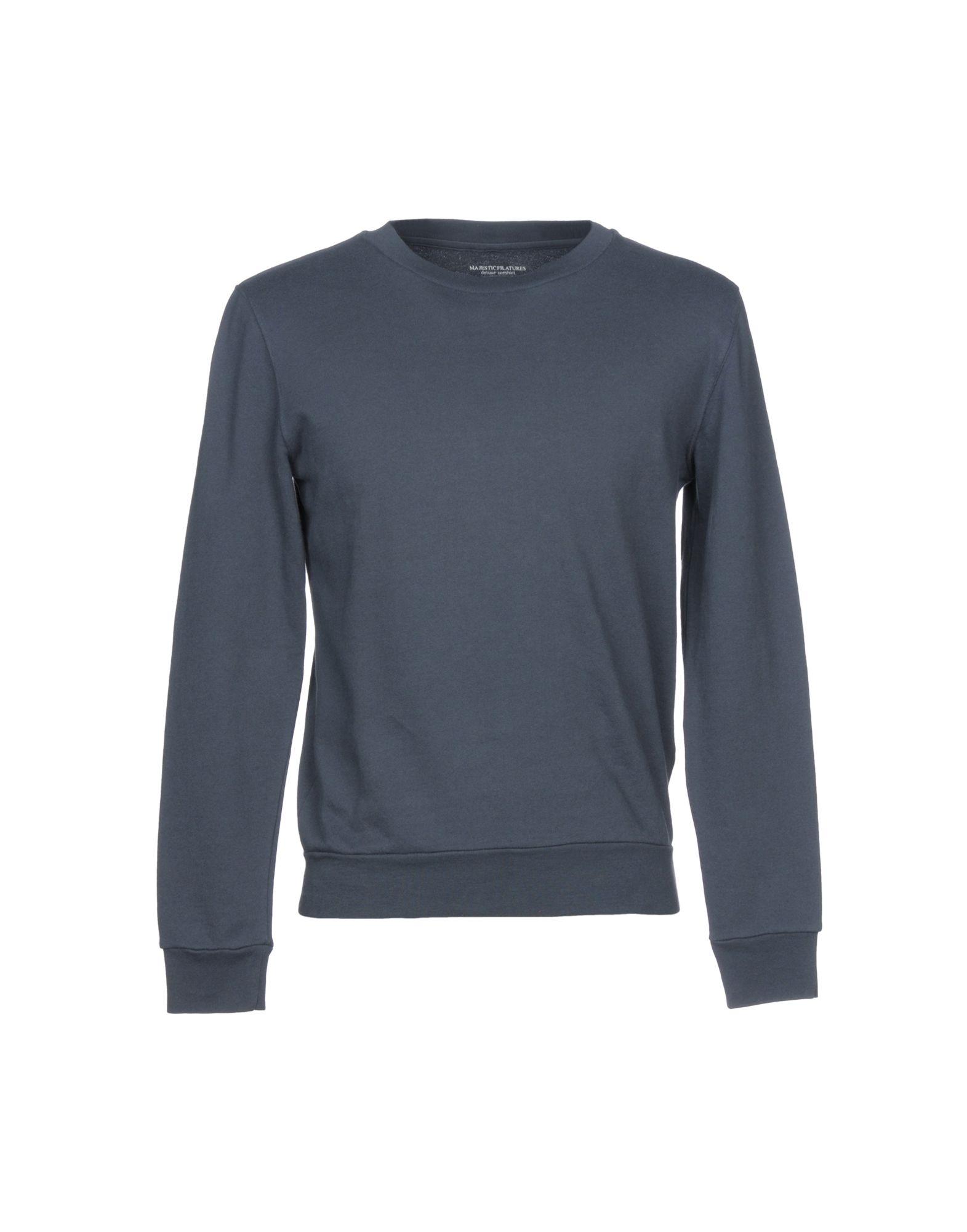 《送料無料》MAJESTIC FILATURES メンズ スウェットシャツ ブルーグレー S コットン 100%