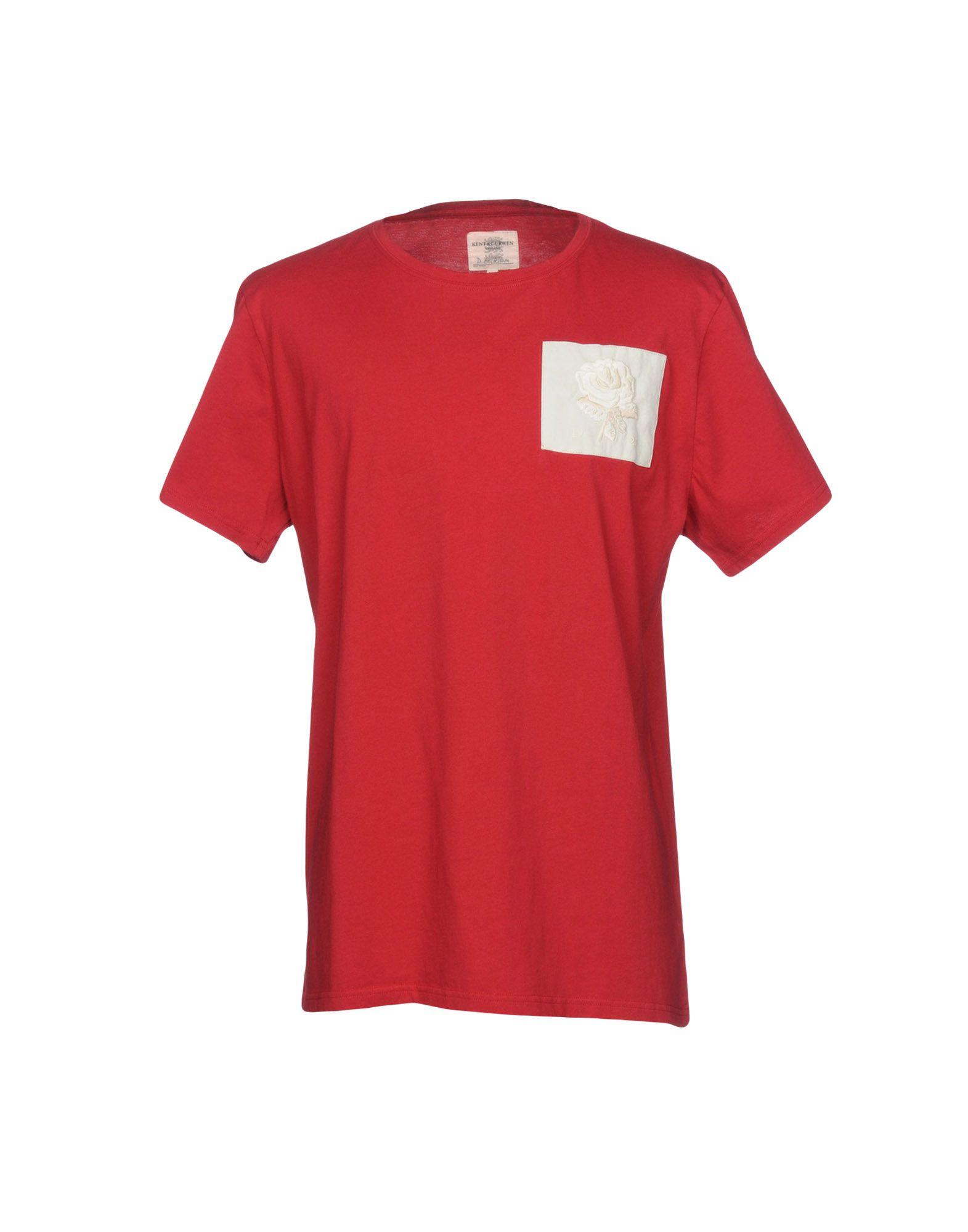 《送料無料》KENT & CURWEN メンズ T シャツ レッド XS コットン 100%