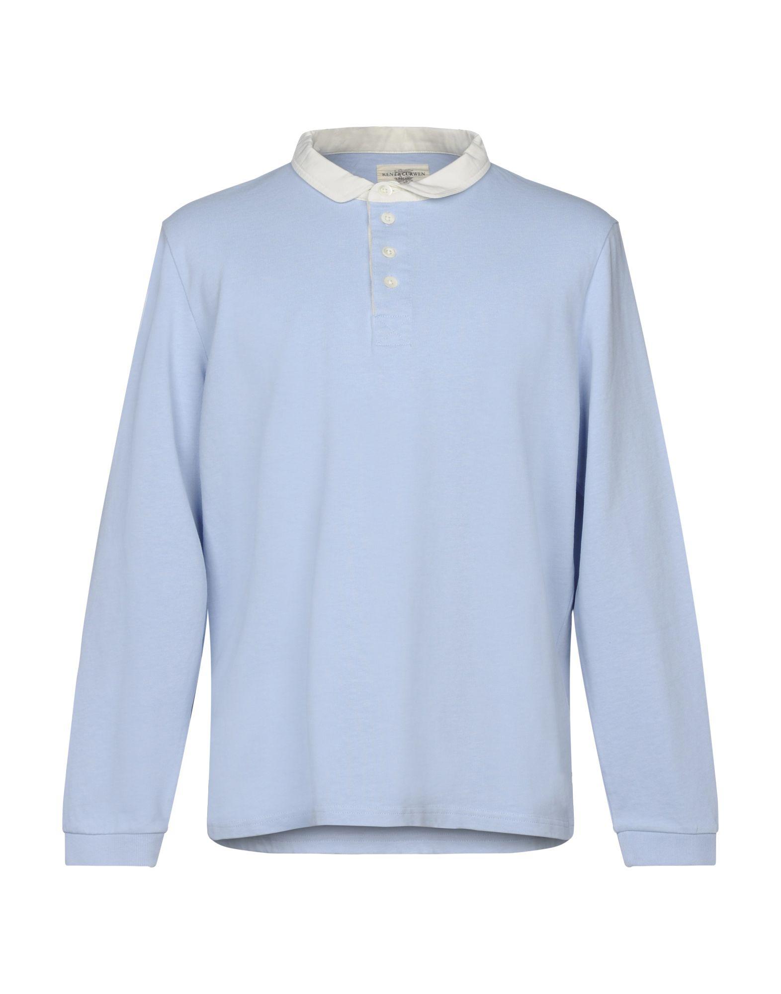 《送料無料》KENT & CURWEN メンズ ポロシャツ スカイブルー XS コットン 100%